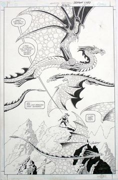 Splash Page from Green Lantern Dragon Lord #3 by Paul Gulacy for $249 on eBay
