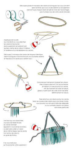 En dessin spécial mariage : confectionnez des suspensions de rubans romantiques // http://www.deco.fr/loisirs-creatifs/actualite-587162-mariage-suspensions-rubans-romantiques.html
