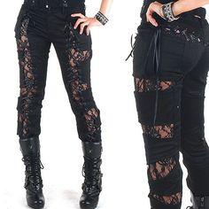 Pantalones Puntilla Góticos