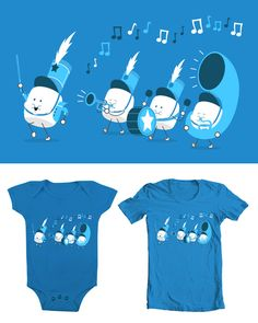 """My new design called """"March-Mallow Band"""" If you are able to please go to threadless and vote 5 on it :)"""