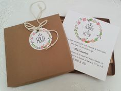Invitación boda caja corona floral vintage romántica