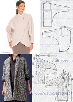 Women S Fashion Over The Decades Coat Patterns, Dress Sewing Patterns, Sewing Patterns Free, Clothing Patterns, Fashion Sewing, Diy Fashion, Fashion Edgy, Fashion 2018, Shirt Dress Pattern