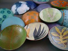 gorgeous enameled bowls