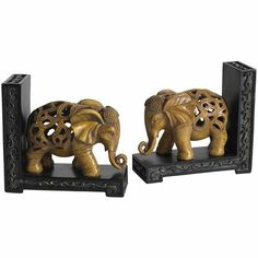 Elephant Resin Bookends