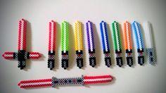 Star Wars lightsabers made from perler beads!