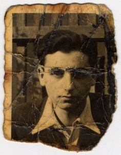 "Pictured is Alex Lieberman, donor's brother-in-law. The portrait was found in ""Kanada"" section in Birkenau in 1944 and brought to his mother, Rosa Lieberman. Rosa hid this photograph in her mouth through every selection and search during her imprisonment in Birkenau, and she later carried it with her on death marches to Ravensbrueck and Neustadt-Gleve."