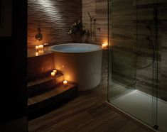 Hard to be more tranquil than soaking in a hot bath. MTI Jasmine 3 generously deep freestanding tub.