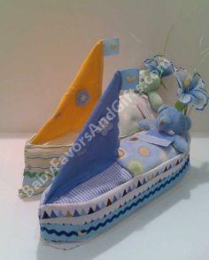 Sail Boat Diaper Cake http://babyfavorsandgifts.com/sail-boat-diaper-cake-p-82.html #babyshower