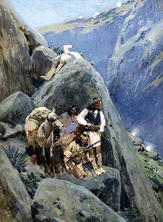 Apaches dans la montagne (Henry Farny)
