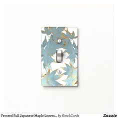 Frosted Fall Japanese Maple Leaves Garland Light Switch Covers