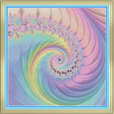 beautiful pastel fractal swirl cross stitch pattern. digital abstract art taken to the next level. perfect for any geek or mathematician in your life…or anyone who  loves a colorful design