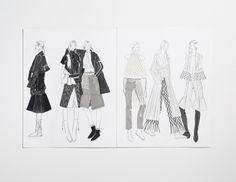 Fashion Sketchbook - fashion illustrations; fashion student portfolio // Jennifer Lee