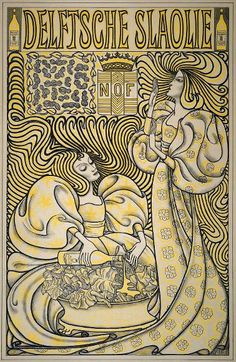 Jan Toorop, Dutch. poster for 'Delftsche Slaolie' (Delft Salad Oil) in 1894.