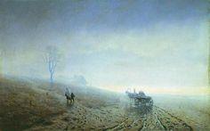 Autumn impassability of roads,  Arkhip Kuindzhi, 1872.