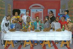 Rap's Last Supper 24x36 print by CreativeScratchings on Etsy