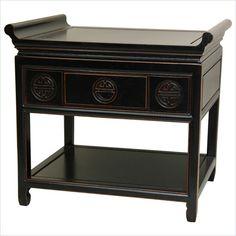 Oriental Furniture Altar Table in Black - ST-PJ100B-AB-XX