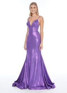Ashley Lauren - 1717 Deep V-neck Jersey Trumpet Dress Pink Prom Dresses, Lilac Dress, Mermaid Prom Dresses, Satin Dresses, Sexy Dresses, Bridal Dresses, Bridesmaid Dresses, Designer Party Dresses, Trumpet Dress