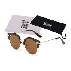 2017 New Fashion Retro Designer Women Round Circle Glasses Cat Eye Semi-Rimless Vintage Sunglasses Goggles Oculos de sol