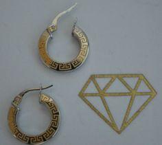 9ct-white-yellow-gold-greek-key-design-hoop-earrings-JER548A
