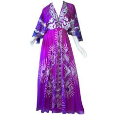Zandra Rhodes 1970s   From a collection of rare vintage day dresses at http://www.1stdibs.com/fashion/clothing/day-dresses/