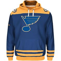 Men s St. Louis Blues Majestic Royal Double Minor Pullover Hoodie 15edc45ed