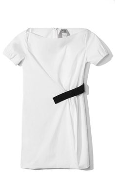 No. 21 Grosgrain Ribbon Half Belt Dress at Moda Operandi