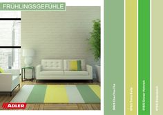 Grün, grün, grün! Die perfekte Farbe für Innen!