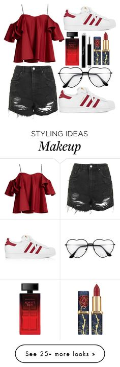 """""""Untitled #143"""" by connorkenway00 on Polyvore featuring Anna October, Topshop, adidas and Elizabeth Arden"""