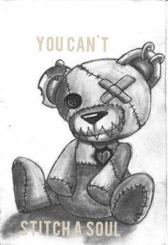 Creepy Drawings, Cool Art Drawings, Creepy Art, Tattoo Drawings, Art Sketches, Girl Drawings, Voodoo Doll Tattoo, Voodoo Dolls, Emo Art