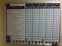 Leader Standard Work Visaul Board