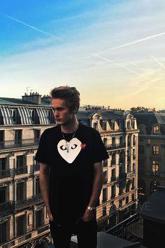 Neels Visser wearing Comme des Garçons X-Ray Heart Logo T-Shirt