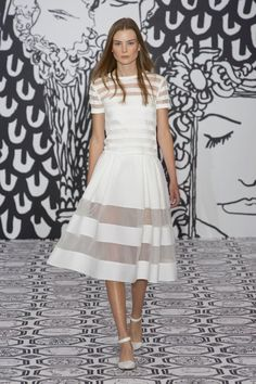 Beautiful summer frock - transparent panels trend - Jasper Conran SS14