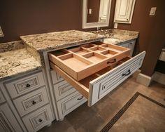 great bathroom idea ... make-up drawer!- WANT