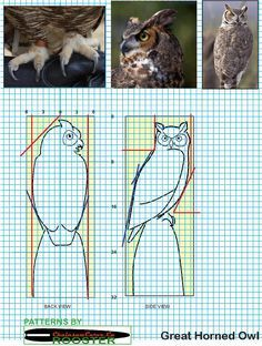Follow me on Facebook: https://www.facebook.com/Bill.Sculptures.tronconneuse.Quebec Chainsaw carving patterns free Great Horned Owl.