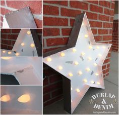 Light Up Star Marquee sign