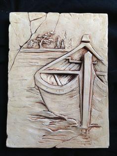 Muskoka, sculpted, canoe, cottage