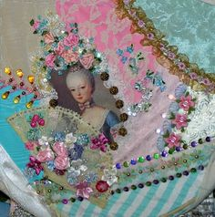 crazy quilt patterns free printable | Crazy Quilting - Marie Antoinette Crazy Quilt Block #5 Continued
