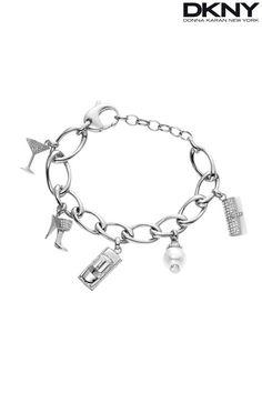 DKNY Silver Charm Bracelet