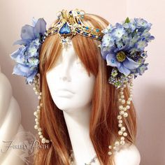 Art Nouveau headdress by Firefly Path