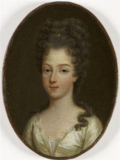 Marie-Adelaide de Savoie, duchesse de Bourgogne (1685-1712), 1776 posthumous portrait, French school (Chantilly)