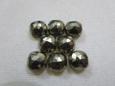 Natural Pyrite Cushion Rose Cut 8x8mm-1 Piece by GEMSONLY on Etsy