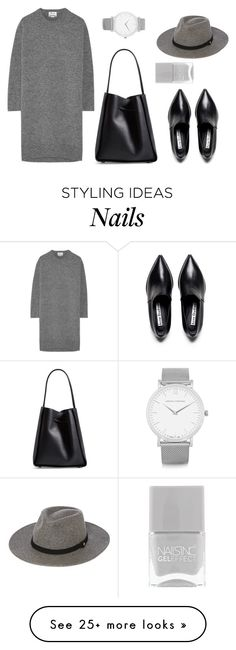 """Greys"" by basic-appeal on Polyvore featuring Acne Studios, Whistles, Larsson & Jennings, 3.1 Phillip Lim and Nails Inc."