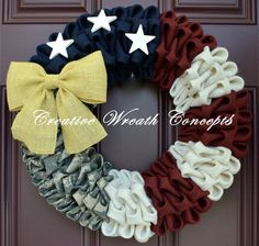 Rustic Patriotic U.S. Army Wreath by CreativWreathConcept on Etsy, $50.00