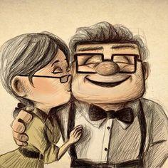 film, draw, disney movies, disney couples, art, morning coffee, quot, thing, kisses