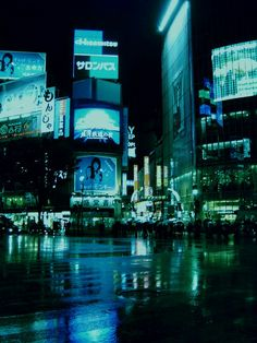 Tokyo, Japan ~ neon, aesthetic, blue, green, grunge, photograph, travel, places, asian, night