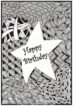 Zentangle Inspired Birthday Cards