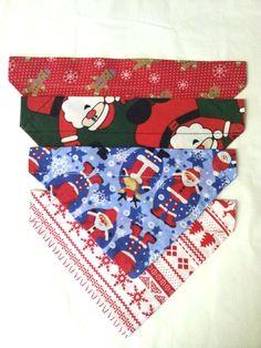 Our selection of Xmas dog bandana's at woofwebshop.co.uk #xmasbandana #xmasdogbandana #dogbandanauk