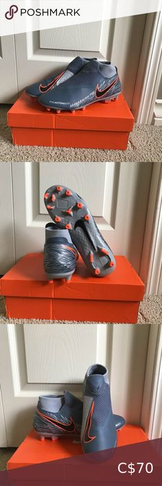Soccer cleats Nike Phantom VSN unisex soccer cleats.  Brand new, never worn, but came with a scuff on the front right cleat.   Size 8.5 womens or 7 mens.   Extremely light, and laces are hidden under the mesh for better ball control. Nike Shoes Athletic Shoes