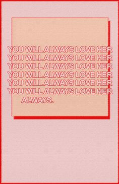 """""""always."""""""
