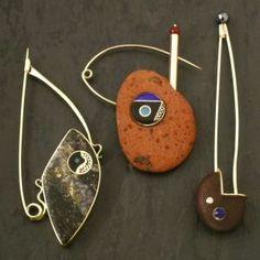"Don Stuart - Metal Arts Guild of Canada. ""Galaxy"", ""Collingwood"" & ""Stikine"" Fibulae"